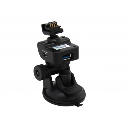 Complete TrueCam mount with speed camera detection - suction